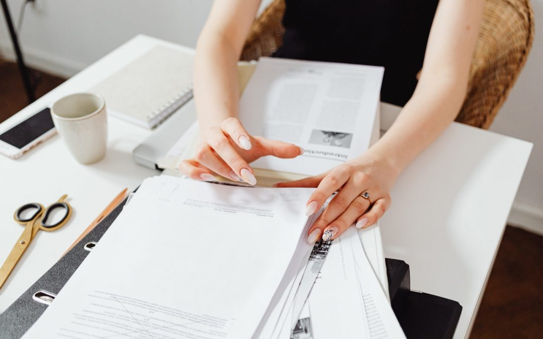 Person Doing Paperwork